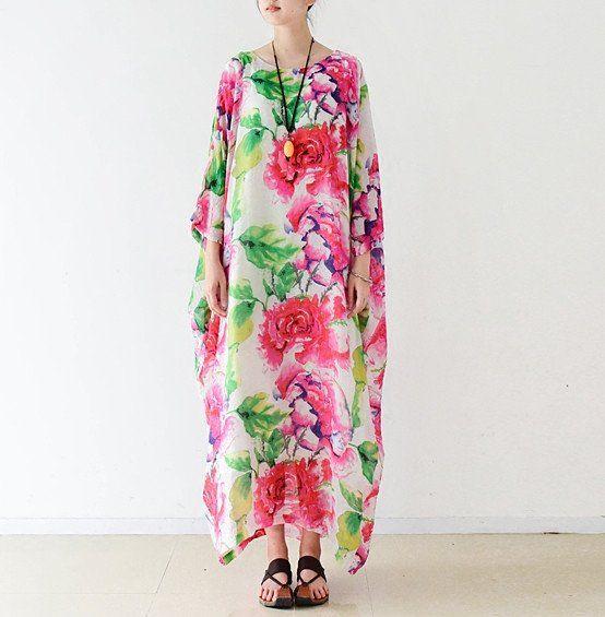 Floral Vintage Style Chiffon Dress