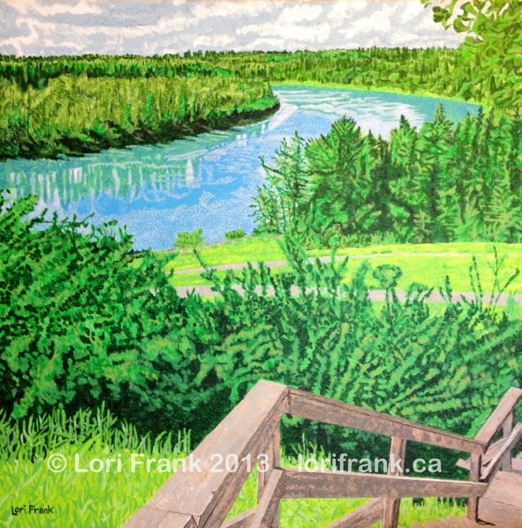 Another summer scene in the river valley of Edmonton is completed. Now Summer just has to arrive. Prints available. www.lorifrank.ca
