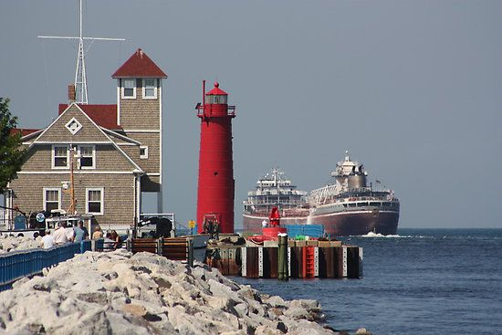 Muskegon has the largest Lake Michigan port on the west coast of Michigan. Ocean-going vessels easily travel in and out of Muskegon Lake.