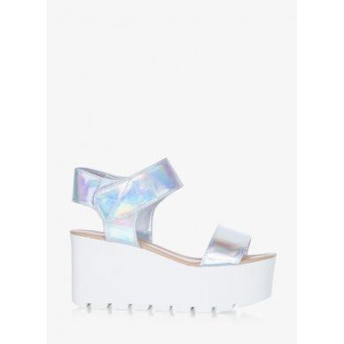 Sandały Just Dance Silver Hologram Sandals