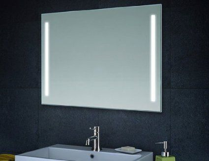 Clairage led miroir de mur miroir de salle de bains 80cm for Miroir salle de bain led