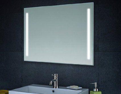 Clairage led miroir de mur miroir de salle de bains 80cm - Eclairage salle de bain miroir ...