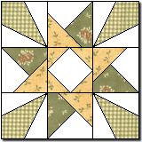 Carol's Star, original block by Marcia Hohn via Quilter's Cache