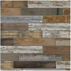 Marazzi Montagna Wood Vintage Chic 6 Inch x 24 Inch Porcelain Floor and Wall Tile (14.53 sq. feet / case) | The Home Depot Canada