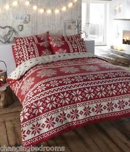 DOUBLE-OR-KING-SIZE-WINTERWARM-MULTI-RED-INNSBRUCK-NORDIC-FLANNELETTE-DUVET-SET