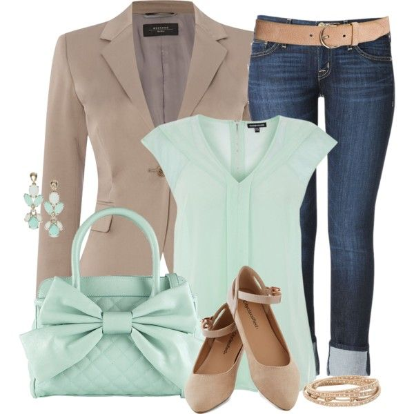 """""""Mint and Beige"""" by modern-woman on Polyvore"""