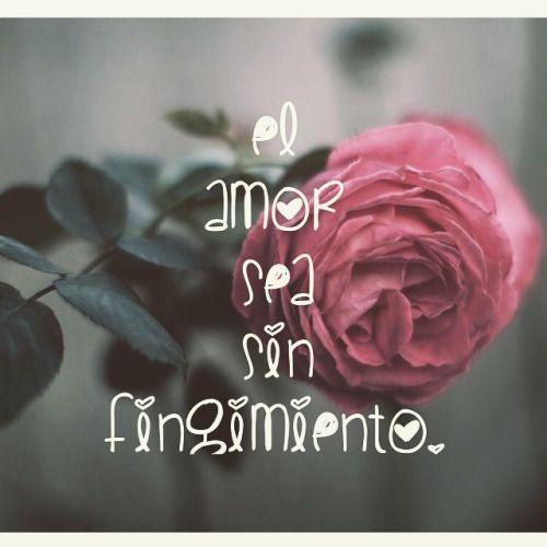 El amor sea sin fingimiento.