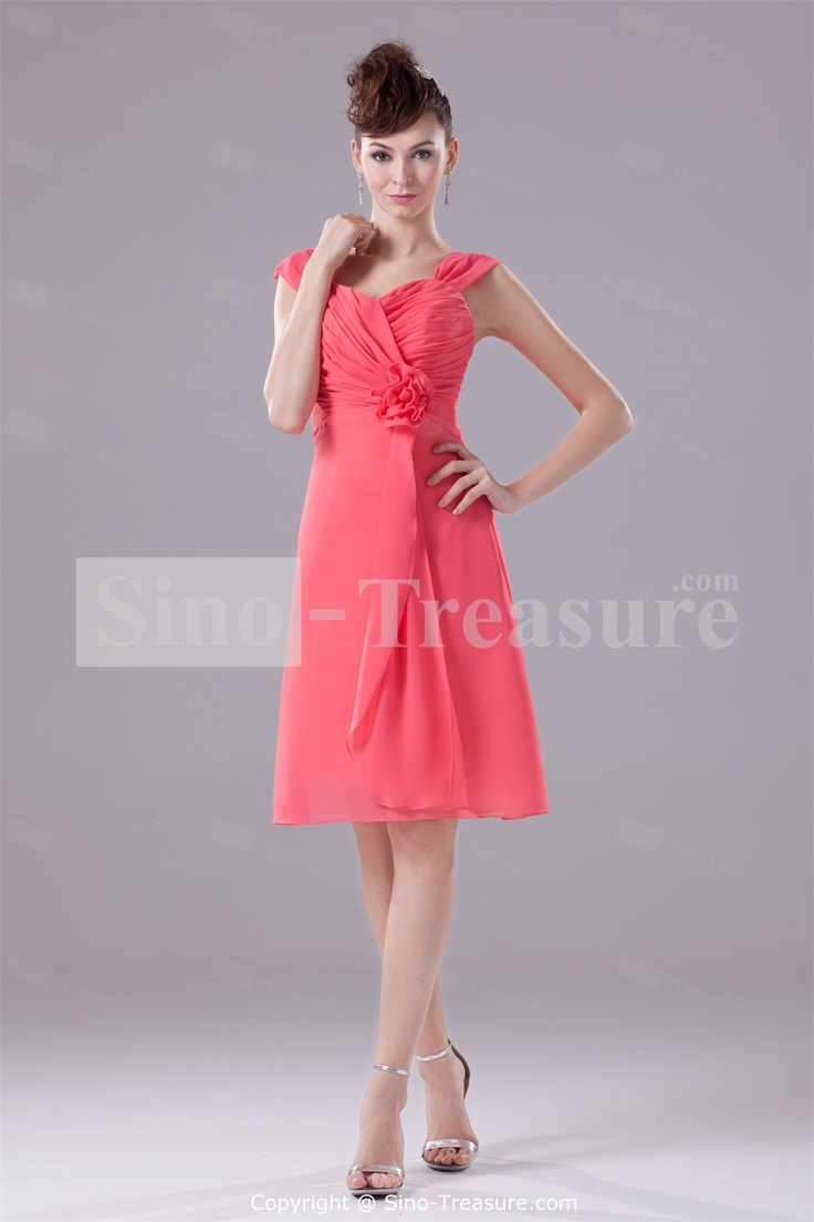 10 best images about bridesmaid dress final picks on pinterest watermelon knee length criss cross chiffon bridesmaid dress wholesale price us11799 ombrellifo Image collections