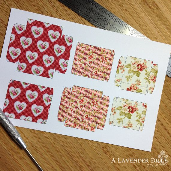 PRINT OUT Country Roses Box Set for Dollhouse Miniature 1/12 Scale