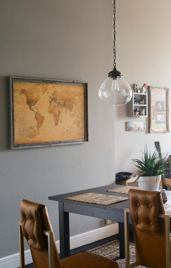 DIY Cork Map | www.gimmesomestyleblog.com #map #travel #DIY  //   I LOVE this idea!  I would use a map with more color.