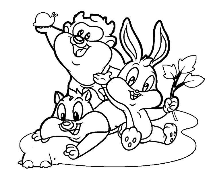 baby looney tunes coloring pages - Looney Toons Coloring Pages