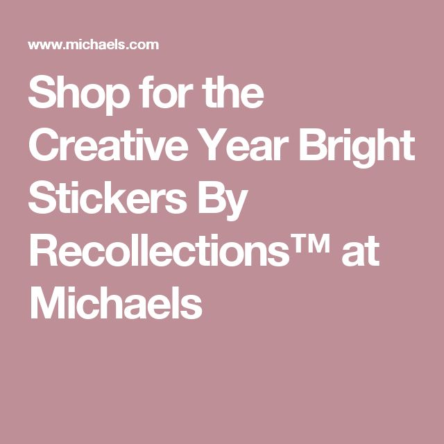 Creative year bright stickers by recollections