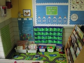 kindergarten blog with lots of center ideas that can be adapted/used in prek