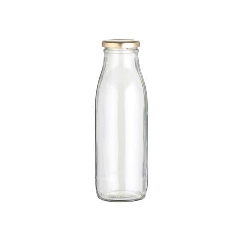 Universalflasche aus Glas, mit Schraubverschluss. Fassungsvermögen: ca. 500ml.