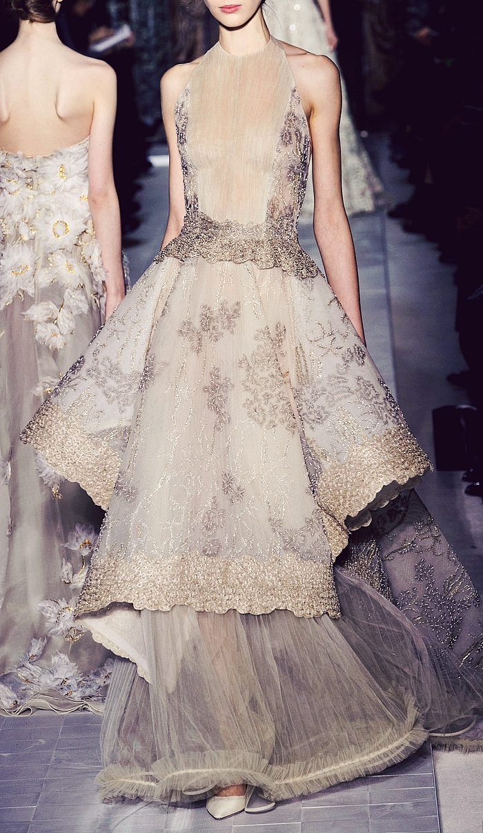 Valentino - Couture Spring 2013.  This would so be my wedding dress if I renewed my vows!
