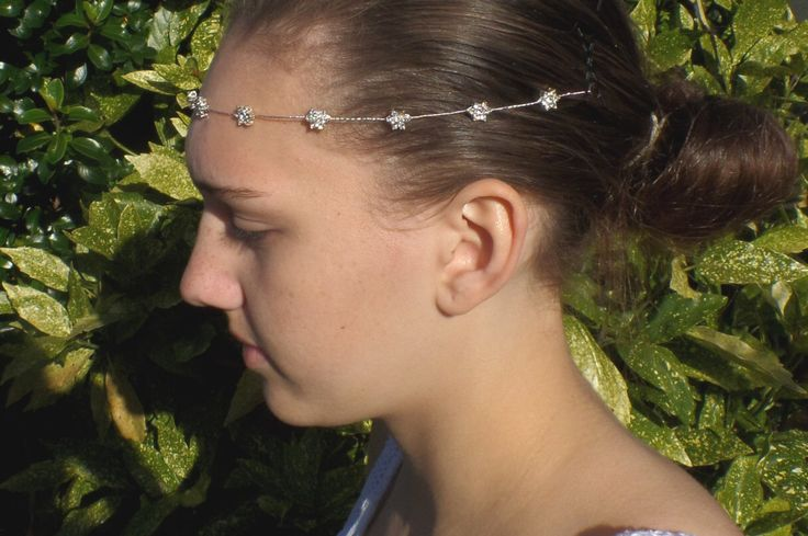 Bridal Browband, Diamante Flower, Forehead band, Bridal Hair wrap, Bridal Headband, Bun Wrap,  Millie by LilyRoseTiara on Etsy https://www.etsy.com/uk/listing/491422671/bridal-browband-diamante-flower-forehead