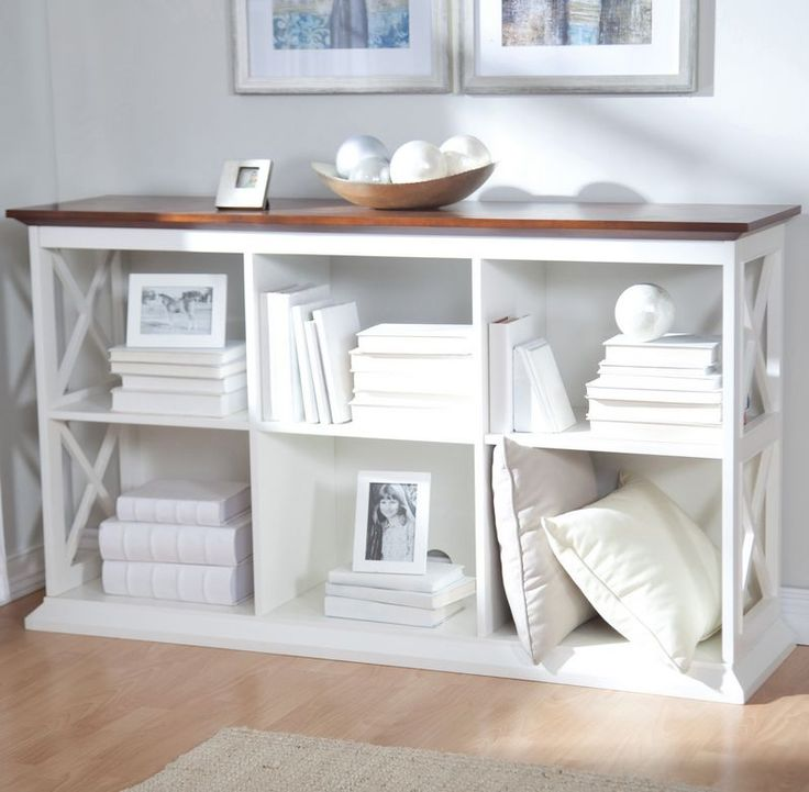 Beautiful as it is functional this console table is constructed of solid birch wood frame that is enhanced with a lustrous white finish, while strong, durable engineered MDF shelves and compartment di