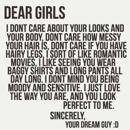 Dear girls. No guy in the world thinks like this. If he does, he's probably in prison.