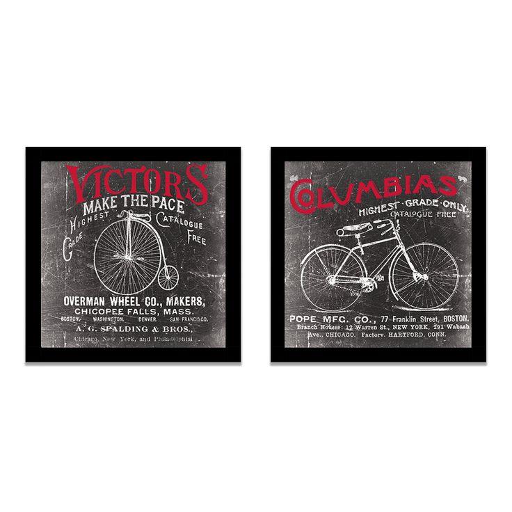Katrina Craven - Antique Bicycle I & II Framed Print Set