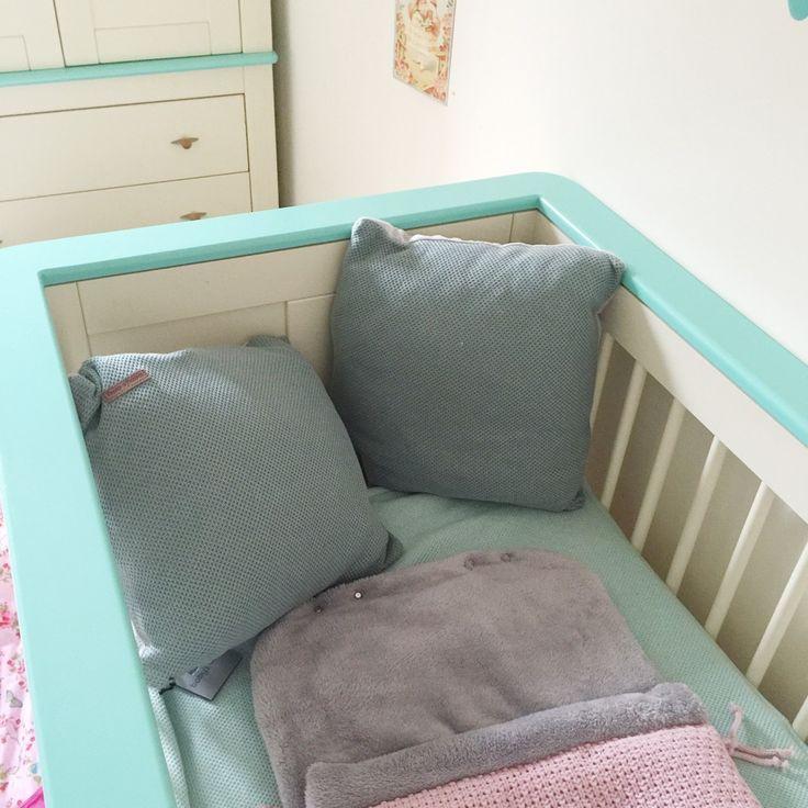 29 weken zwanger : Update + Babykamer sneakpeak Accentkleur mintgroen en accessoires voor de baby van Baby's only.