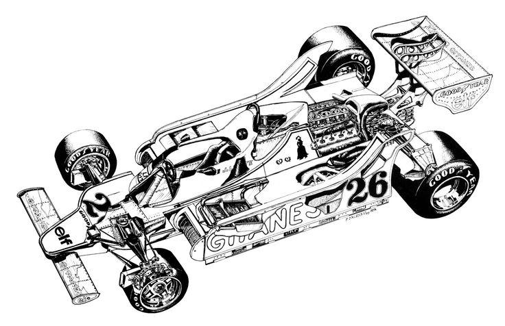 1979-1980 ligier js11 - illustration by paolo d u0026 39 alessio