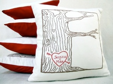 Custom heart tree print cover