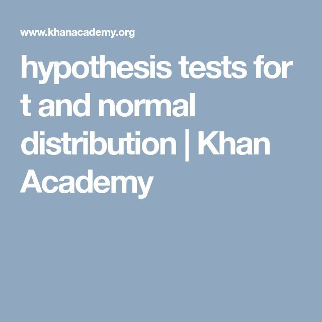hypothesis tests for t and normal distribution          | Khan Academy