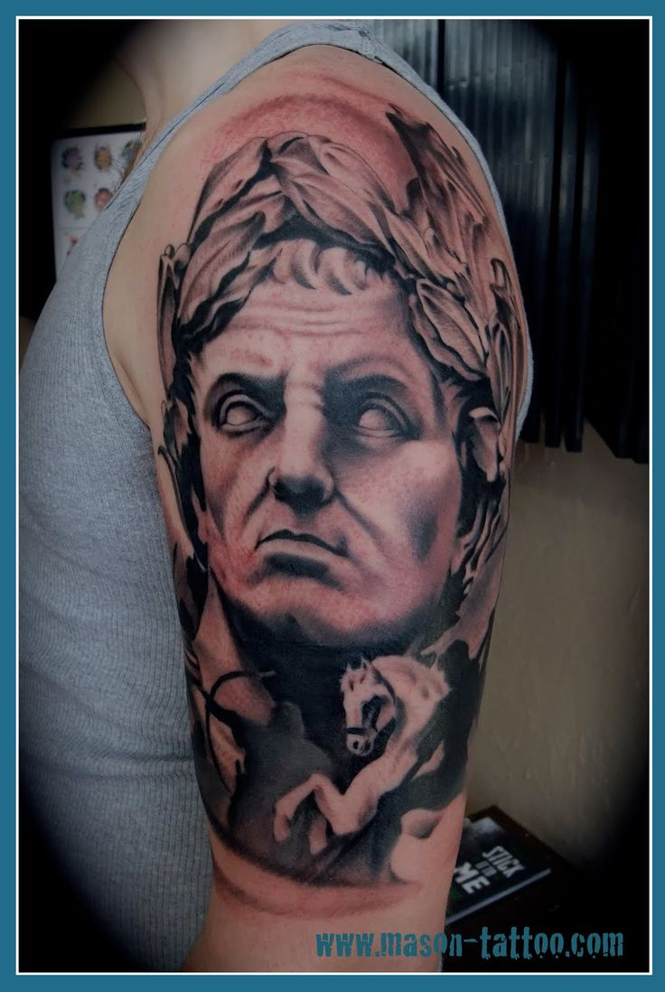 slightly aggressive looking half sleeve of gaius julius caesar tattoo ideas pinterest. Black Bedroom Furniture Sets. Home Design Ideas
