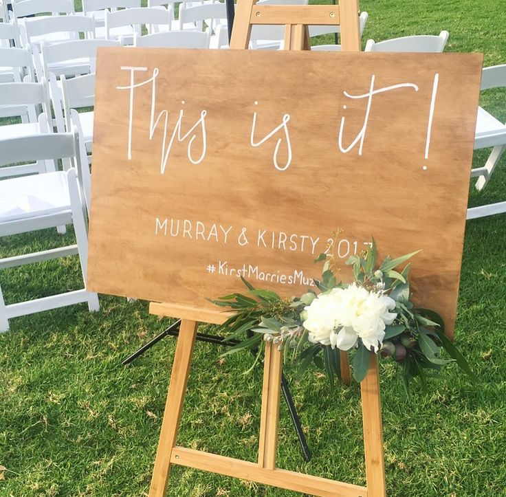 This is it! #wedding #welcome #sign #easel #typography PC: @emilylouisecollinson
