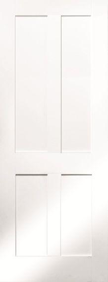 Internal Door White Shaker Victorian 4 Panel Fire Door