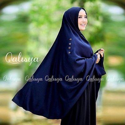Ziya Instant Hijab One Piece Long Khimar Amira Slip On Scarf Abaya Islam Muslim