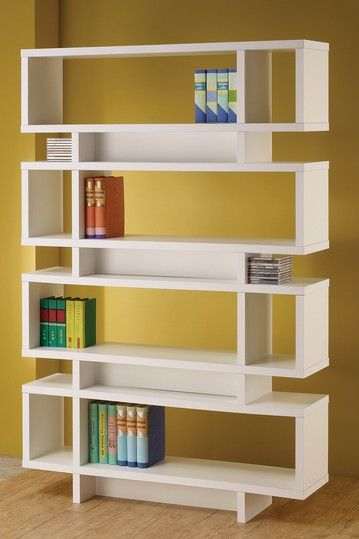 White Contemporary Bookcase by Coaster on @HauteLook