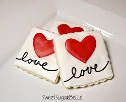 Resultado de imagem para valentine decorated sugar cookies