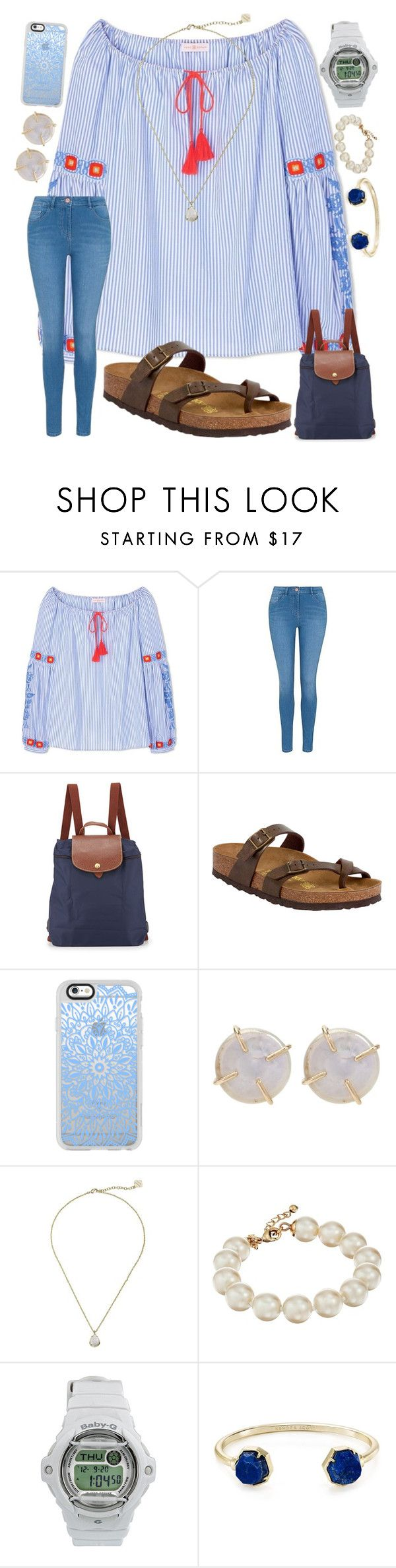 """""""school…"""" by ashton7276 ❤ liked on Polyvore featuring Tory Burch, George, Longchamp, Birkenstock, Casetify, Melissa Joy Manning, Kendra Scott, Kate Spade and Casio"""