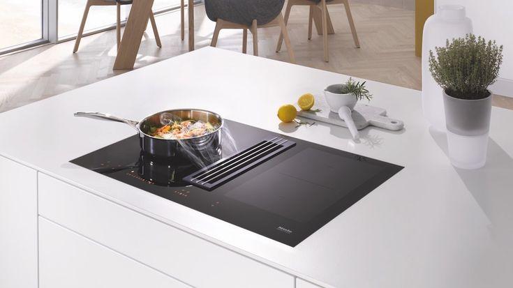 Miele inductiekookplaat TwoInOne met automatische afzuiging in het werkblad #keuken #koken