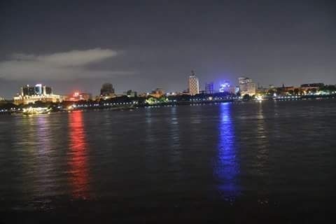 @TourismBengal #Kolkata at night from river #ganga (Ganges ...