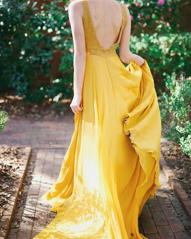 Loulette Bride Frida Gown Yellow Wedding Dress Yellow Bridal Gown Boho Bride Non White Wedding Dresses Boho Bridal Gowns Yellow Wedding Dress
