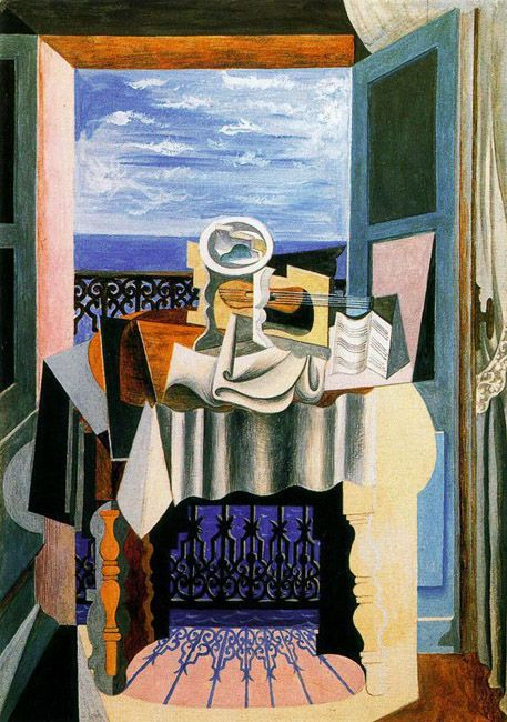 Still Life in Front of a Window at Saint Raphaël (picasso)