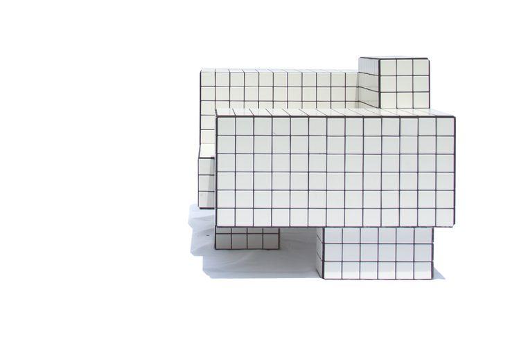 "$6,950.00 TS I, 2016  Tile | Wood  W 64"" × D 28"" × H 24"" in  W 160 × D 70 × H 60 cm  1/2"" mdf + white matte ceramic tiles + black grout"