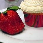 Strawberries Romanov Cupcakes - Recipe Detail - BakeSpace.com