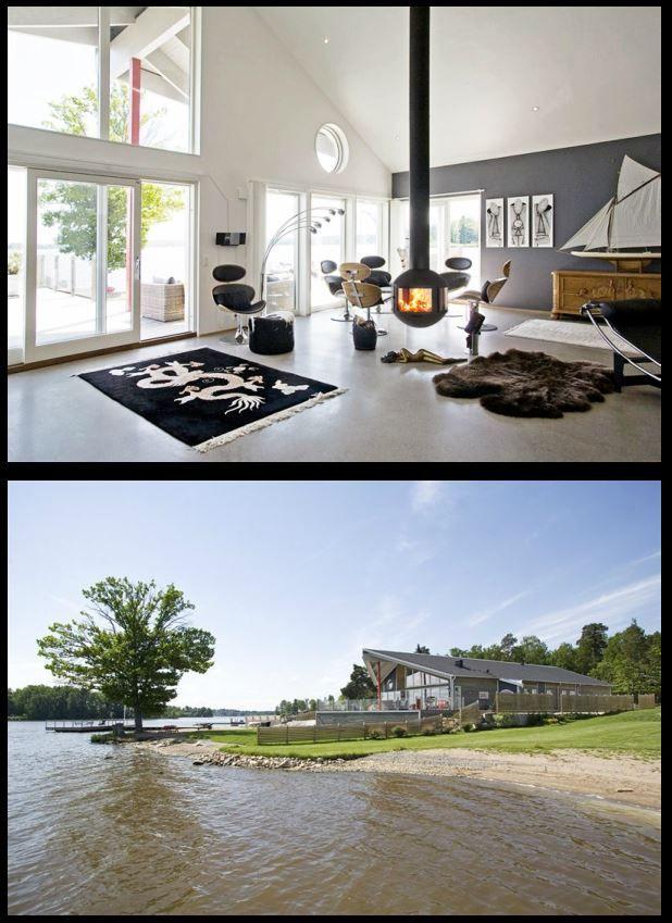 #cheminee #agorafocus foyer à bois suspendu fermé #design contemporain