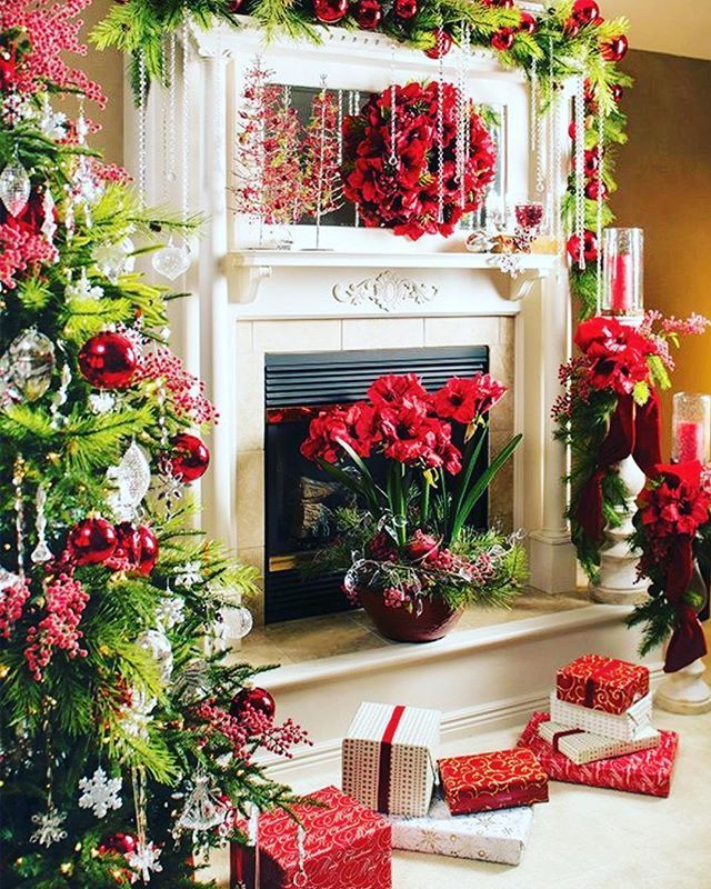 990 best Christmas Mantels images on Pinterest | Merry christmas ...