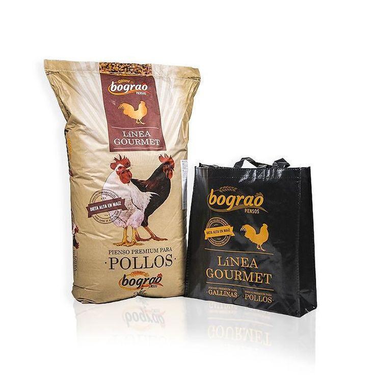 Diseño de saco de pienso y bolsa reutilizable Línea Gourmet para Bograo
