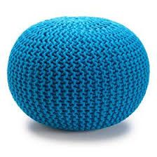 Knitted Ottoman in Teal blue // Kmart Australia // $29
