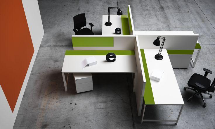 Greenery, Pantone color of the Year 2017 - Workplacek - office - Manerba - Colorline - office design