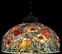 TIFFANY Oriental Poppy floor Lamp