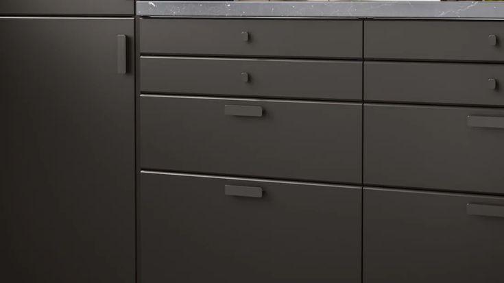 Cuisines METOD finition KUNGSBACKA noir - IKEA en 2020 | Ikea, Rangement mural, Rangement ouvert