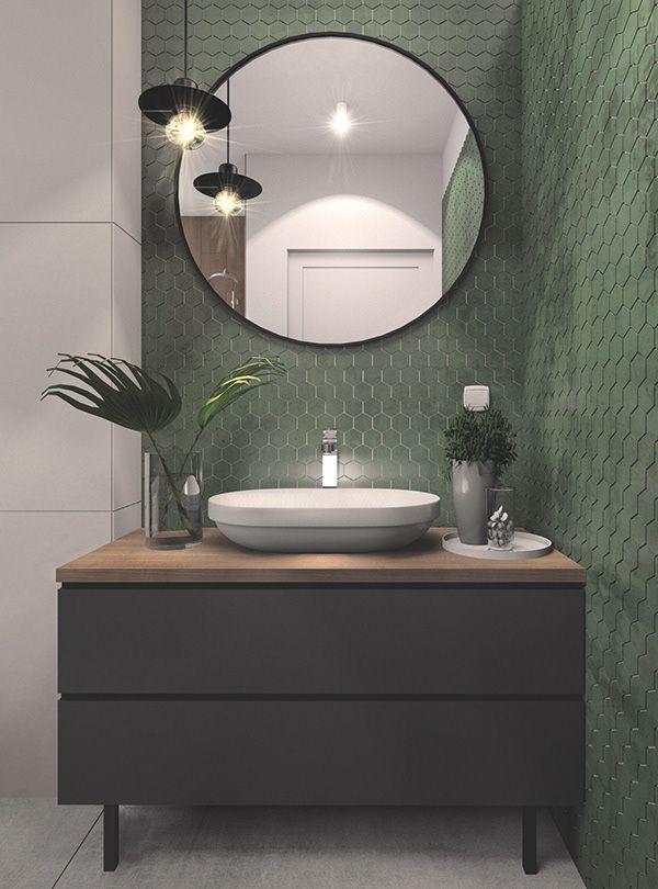 Bathroom In 2020 Green Bathroom Decor Bathroom Design Bathroom Interior Design