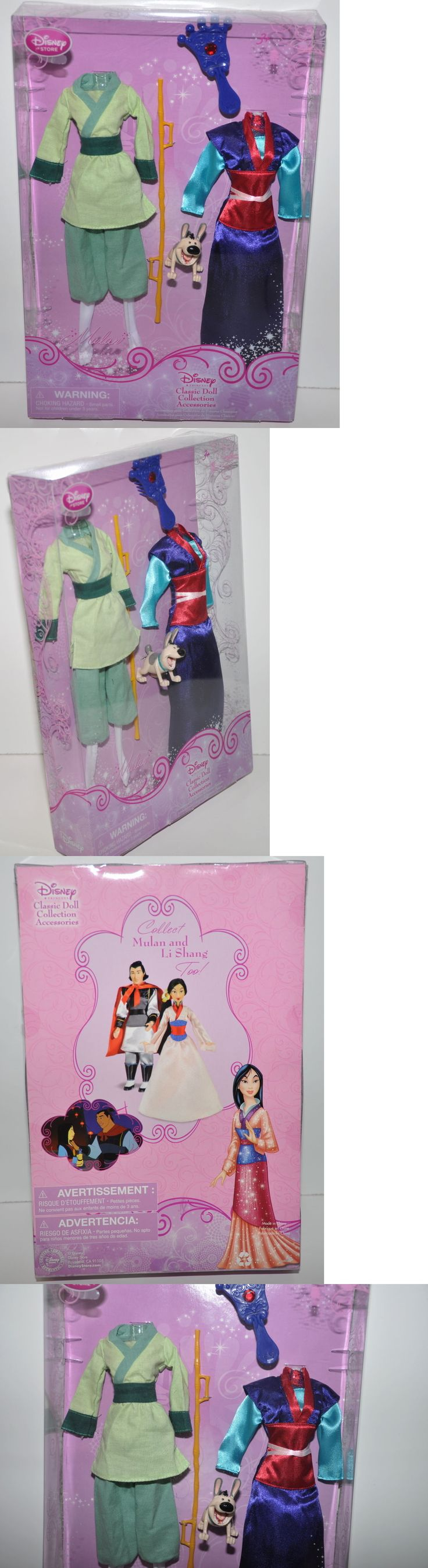 Disney Princesses 146030: Disney Store Classic Doll Collection Mulan Princess Wardrobe Clothes Mini Figure -> BUY IT NOW ONLY: $49.95 on eBay!