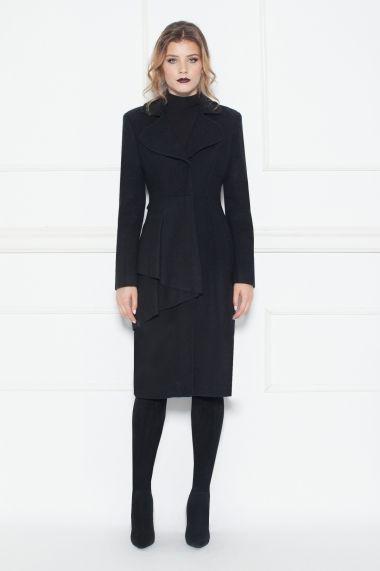 FashionUP! - Redingota NISSA RG8050 Negru - FEMEI, Geci & Sacouri, Paltoane